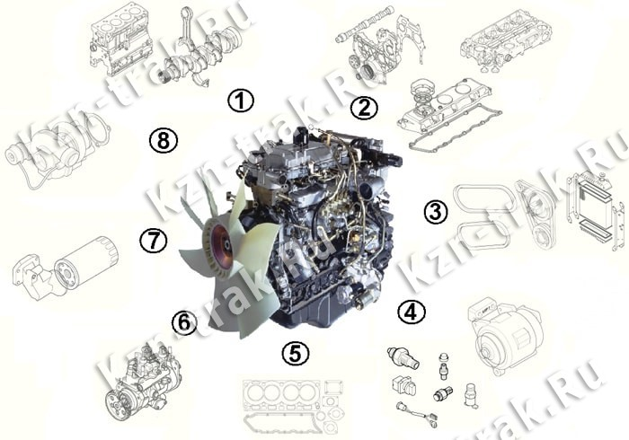 Двигатель ISUZU 4HK1-XYSJ02