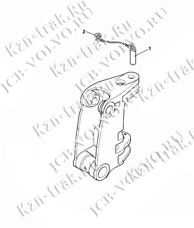 Палец (фиксация з/стрелы) [125/81200] для JCB 3CX, 3CX Super, 4CX